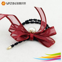 Fashion style pink color hair bows for children hair accessories