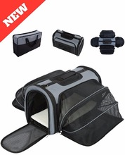 4 Way Expandable Soft Sided Airline Approved Pet Carrier for Cats and Dogs/Folding for Easy Transport /For Air or Car Travel