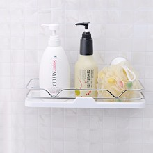 bathroom and kitchen accessories suction cup metal storage rack