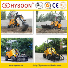 HY200 articulated mini wheel loader with attachments for different job