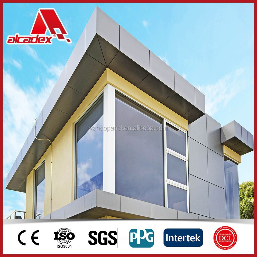 Exterior modern building facade materials acm buy modern for Exterior building products