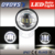 12v 24v DC 30W 4.5'' 2800LM 7000k waterproof ip67 motorcycle h-arley head light led fog lamp with DRL angel eyes