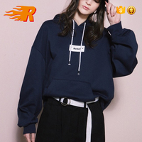 Boyfriend Style Oversized Hoodie With Front