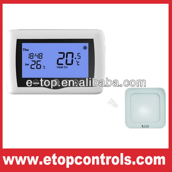 Wireless touch screen carbon underfloor heating