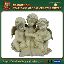 Custom terracotta resin boy angel figurines, angel table decoration
