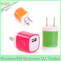 hot selling 5v 1a eu us single mobile travel usb wall charger for iphone 6, home charger