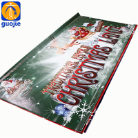 Custom Promotional Advertising Outdoor pvc flex hanging banner with pole