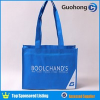 Guohong customized logo silk printing non woven eco tote bag, eco bag