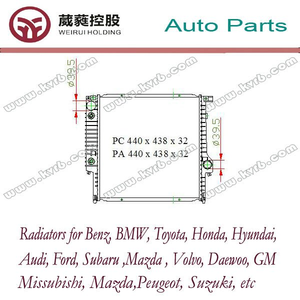 Buy auto radiator for 3 or 3 Touring radiator or 3 Convertible (E30) 320/325 raidator with OEM 1719258