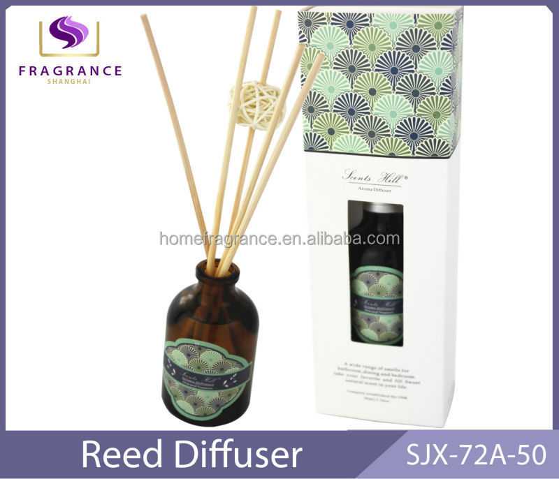 green tea fragrance aroma room scents reed diffuser with rattan sticks