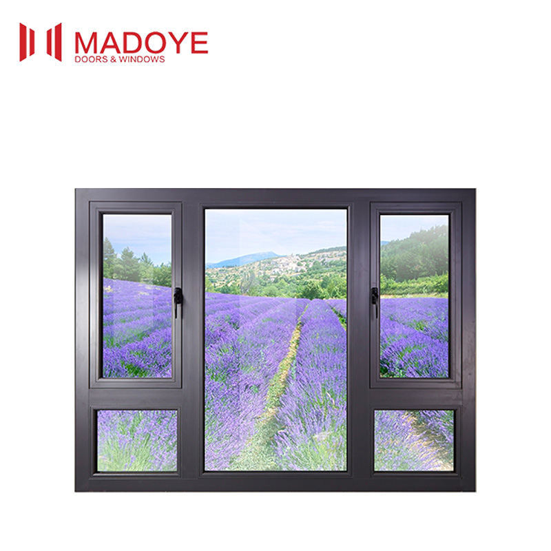 Thermal broken Tilt open window with powder coated with double glass for energy saving
