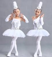 Wholesale New Design 2015 white Ballet costumes Little Swan dance dresses