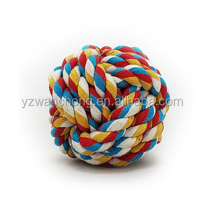 Colorful Dog Cotton Rope Ball Chew Dog Pet Toys
