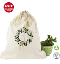 Customized Design Logo Recycle Cotton Drawstring Shoes Bag