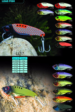 Sinking Fishing Lures Lead Jig Head Fish Bait Tackle Hook