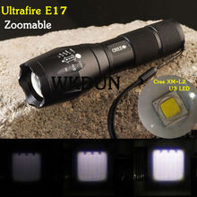 China wholesale Zoom focus Ultrafire E17/A100 Cree XM-L2 XML2 U3 5-mode Cree led flashlight 2000 lumens