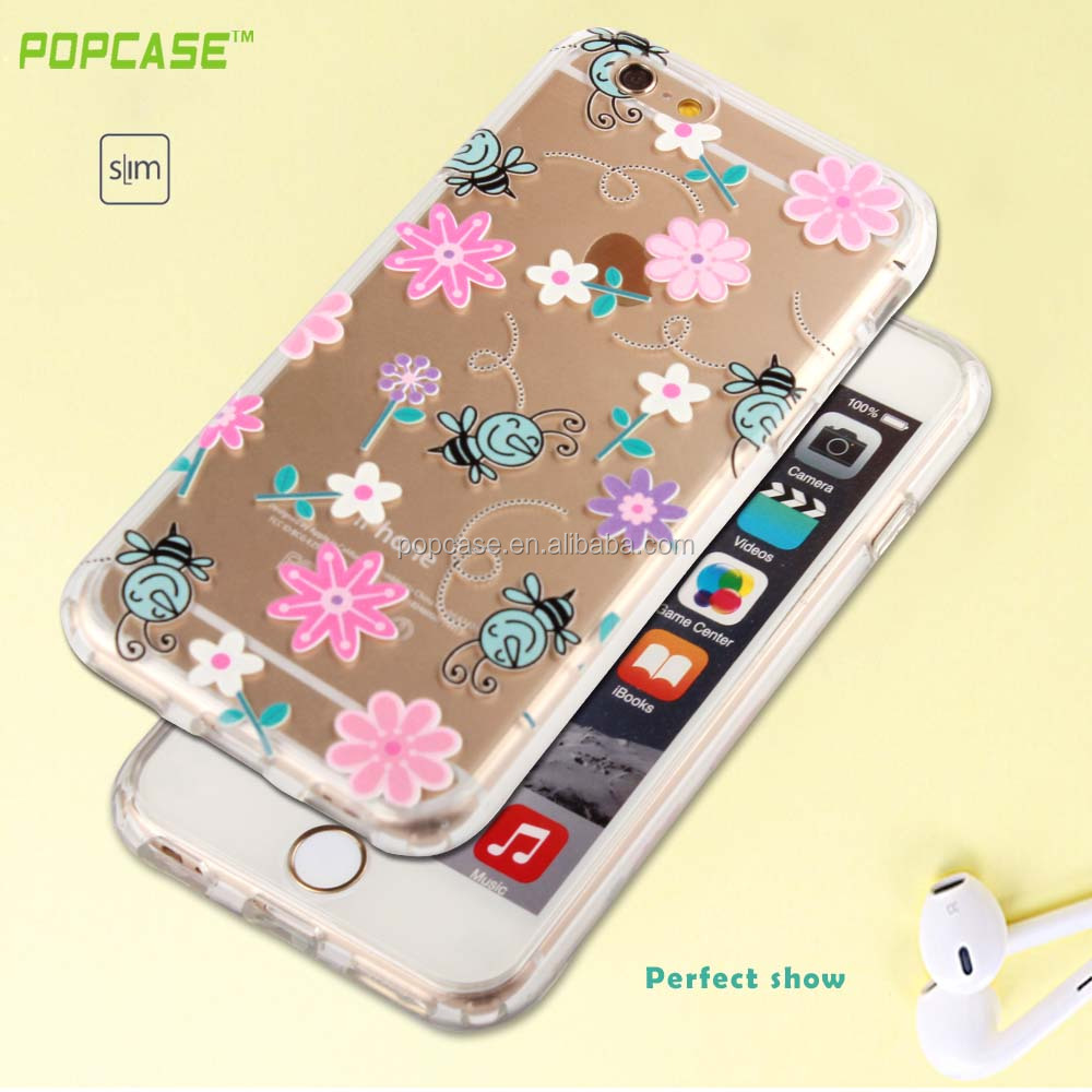 High quality eco-friendly material PC TPU phone case back cover for apple iphone 6