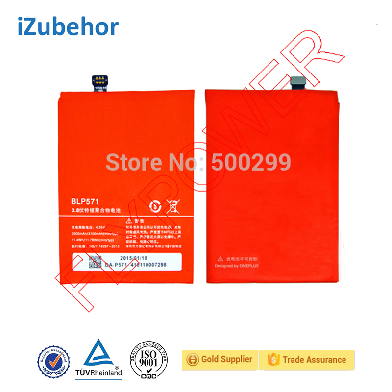 Rechargeable <strong>Battery</strong> For oneplus one 3100mAH BLP571 Li-Polymer <strong>Battery</strong> Pack by free shipping