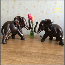 European - style living room wine cabinet decorative resin crafts auspicious Lucky couple elephant