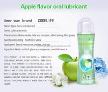 Wholesale Apple Flavor Oral Lube Personal Sex Lubricant