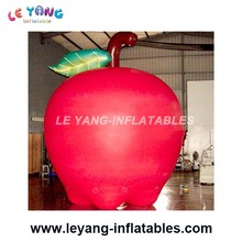 Customized Inflatable Advertising Cylinder Printed Helium Apple Balloons for Celebration day