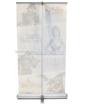 Fashion Luxury Standing Chromium Plating Pole Tricorne 80*200CM Size Graphic Magnetic Roll Up Banner