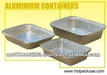 Rectangular Food Packaging Aluminium Foil Containers