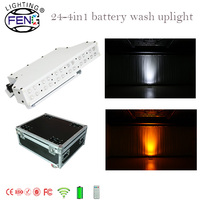 Free MOQ LED 24*3w RGBW led wireless battery powered flood pixel wall wash stage bar light