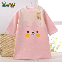 100%cotton baby smocked pajamas with snap on shoulder