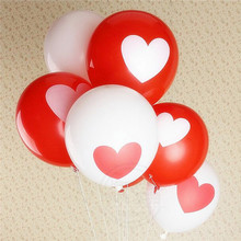 100% nature white red marry me custom heart shaped printed 12inch latex balloon for wedding party