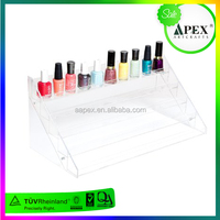 Wholesale directly custom nail polish wall display rack/rotating acrylic nail polish rack display