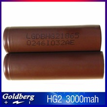 On sale LG HE2/Hg2 18650 Battery 18650 Hg2/HE2 2500mAh LG 35A Discharge