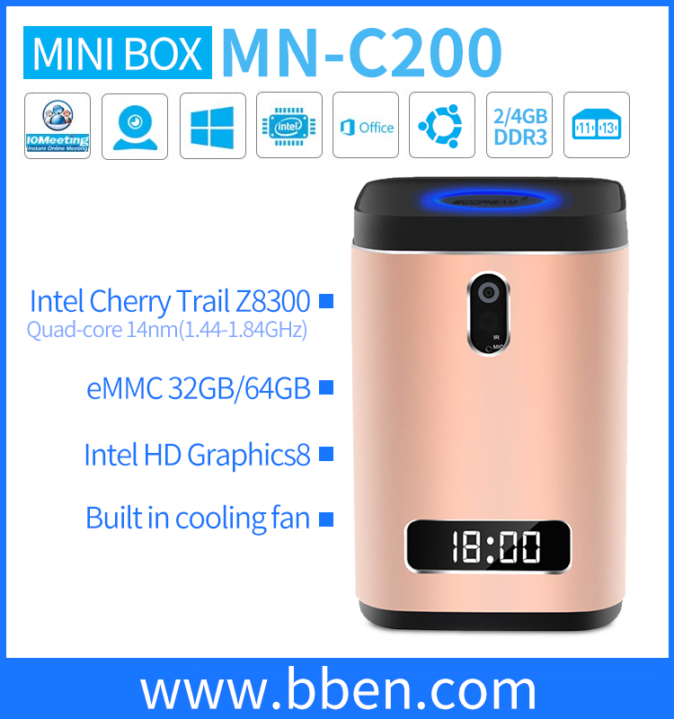 mini pc free android download google play store Quad Core 4g Ram intel z8300 windows10 smart tv box