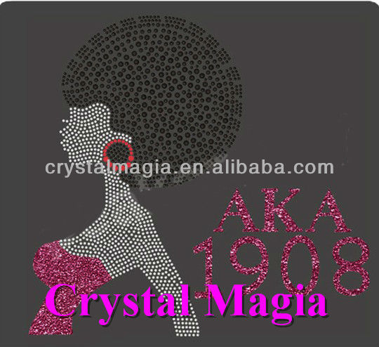 fashion AKA 1908 rhinestone transfer motif design