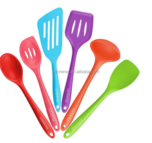 6-Piece Silicone Cooking Set - 2 Spoons, 2 Turners, 1 Spoonula / Spatula & 1 Ladle silicone utensil set