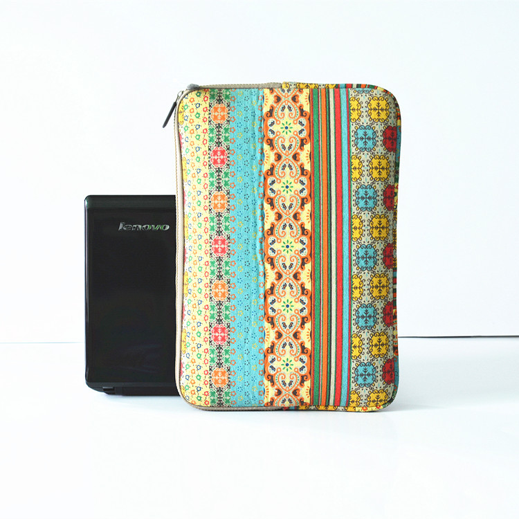 china factory customized bohemian style laptop sleeve