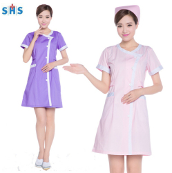 Polyester/Cotton beauty salon uniform SH5003