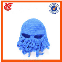 Blue color baby boy cool style hot sale crochet mask