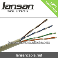 cat5e utp lan cable 24awg indoor/outdoor type PE insulation and top quality bc conductor