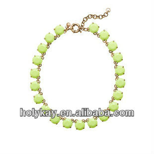 Chunky fashion beaded necklace,Acrylic bubble bib wholesale jewelry made in China,Hot necklace design