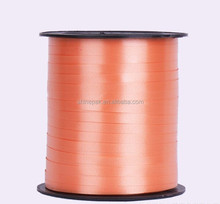 manufacture 5mm*500Y plastic solid curling ribbon in roll, plastic balloon ribbon