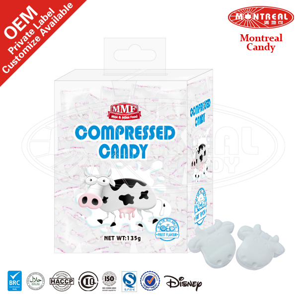 5065 Fruit Flavor Pressed Candy With Cow Shape