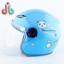 Hot selling colorful child half face motor safety protection cross helmet