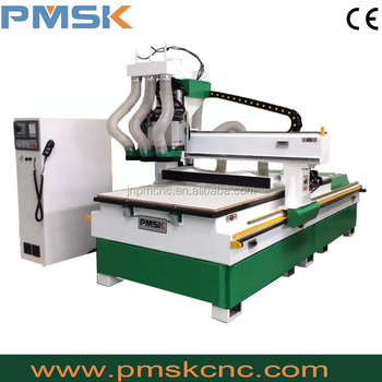 Three head pneumatic atc wood carving cnc router machine for sale/universal wood working machines