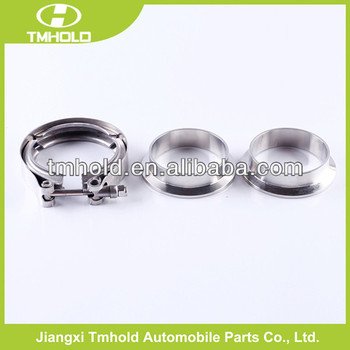 Robust T bolt screw aluminium V band clamp with double flanges