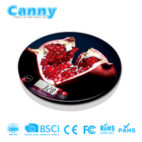 Fashionable round cheap kitchen scales food weighing scale digital new design