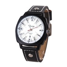 Hot Sale 2017 Fashion Leather Men Watches Women Water Resistant Alloy Watch Quartz Outdoor Sports Watches OEM Wholesale