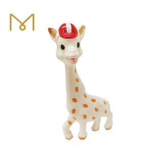 Baby Products Soft Chewable Silicone Natural Rubber Latex Giraffe Baby Teether Sensory For Teething Toys