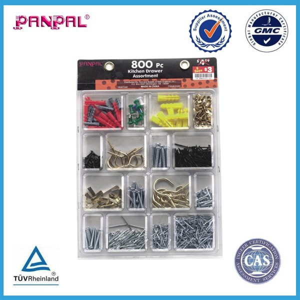 BSCI approved hot sale 800pc kitchen drawer hardware assortment