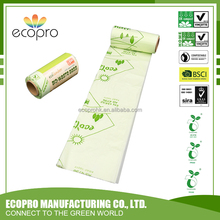 Vincotte and ASTM Standard 100% Biodegradable and compostable corn starch star seal bag on roll